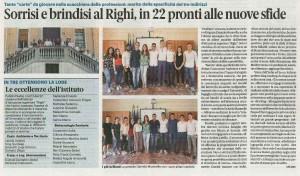 """Gli alunni """"centisti"""" del Righi anno scolastico 2018/2019"""